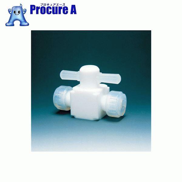 フロンケミカル フッ素樹脂(PTFE)二方バルブ圧入型 10φ NR0003-003 ▼391-5352 (株)フロンケミカル