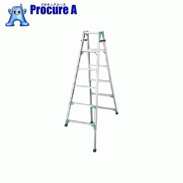 ハセガワ 脚部伸縮式アルミはしご兼用脚立 RYZ型 6段 RYZ1.0-18 ▼824-6639 長谷川工業(株) Hasegawa