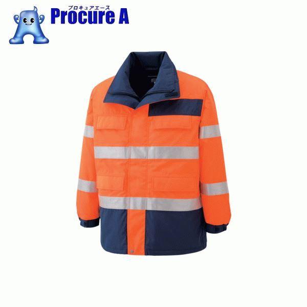 ミドリ安全 高視認性 防水帯電防止防寒コート オレンジ 3L SE1125-UE-3L ▼797-8782 ミドリ安全(株)