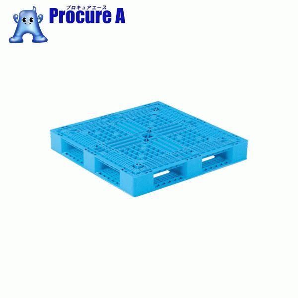 サンコー プラスチックパレット 1100X1100X150 青 SK-D4-1111-12-BL ▼459-3961 三甲(株) 【代引決済不可】【送料都度見積】