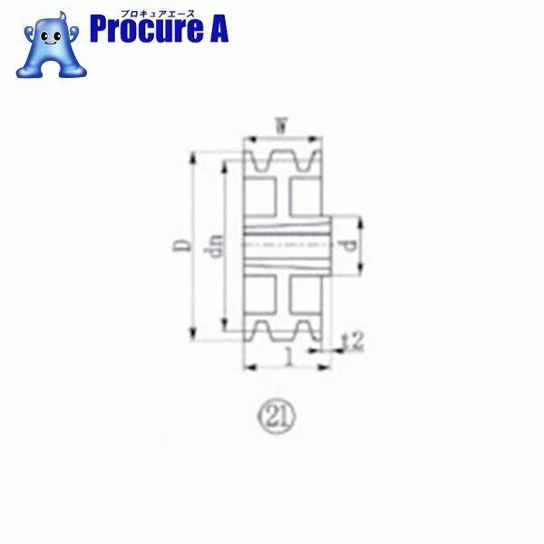 EVN ブッシングプーリー SPA 315mm 溝数3 SPA315-3 ▼380-5808 エバオン(株)