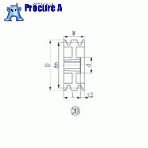 EVN ブッシングプーリー SPB 230mm 溝数3 SPB230-3 ▼380-6456 エバオン(株)