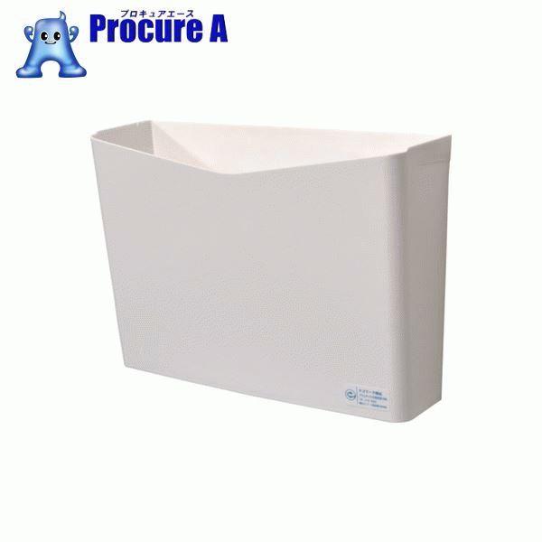 積水 リサイクルペーパーポケット フタなし 白 SRPPHW 10個▼855-3270 積水テクノ成型(株)