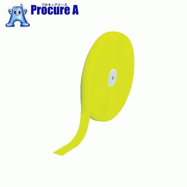 TRUSCO マジックテープ 縫製用B側 50mm×25m 蛍光イエロー TMBH-5025-LY ▼856-0773 トラスコ中山(株)