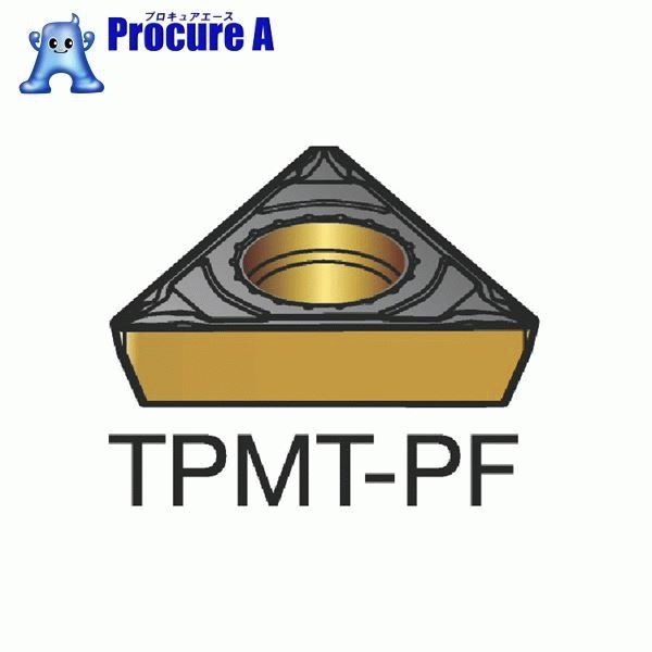 サンドビック コロターン111 旋削用ポジ・チップ 5015 CMT TPMT 09 02 02-PF 5015 10個▼250-7153 サンドビック(株)コロマントカンパニー