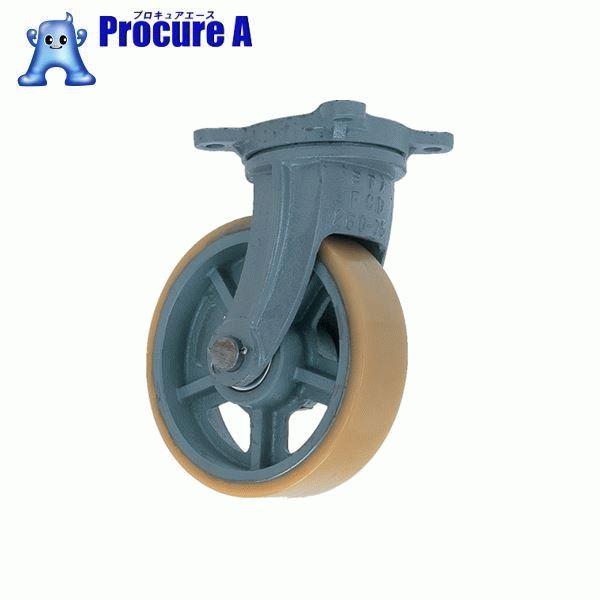 ヨドノ 鋳物重荷重用ウレタン車輪自在車付き UHBーg300X100 UHB-G300X100 ▼835-3222 (株)ヨドノ
