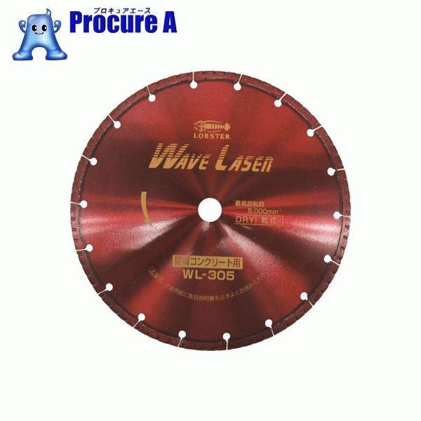 エビ ダイヤモンドホイール ウェブレーザー(乾式) 304mm穴径20mm WL30520 ▼124-5112 (株)ロブテックス