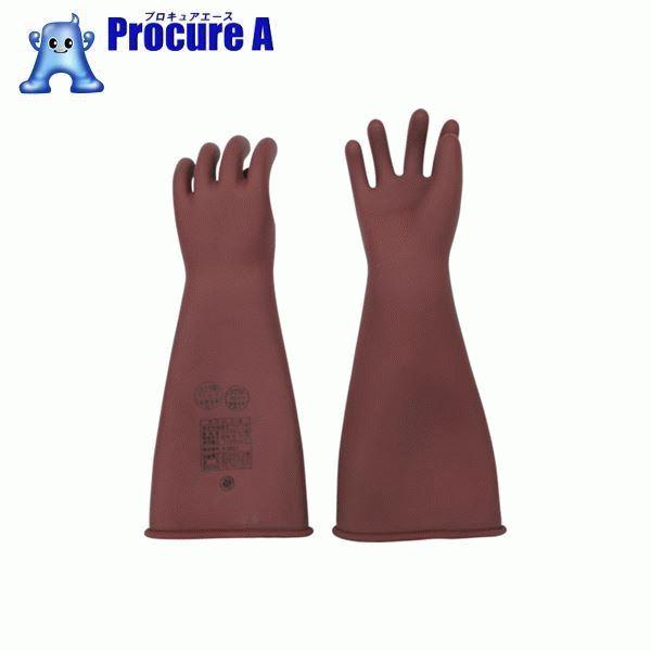 YOTSUGI 高圧ゴム手袋 455MM 中 YS-101-22-01 ▼466-6046 ヨツギ(株)