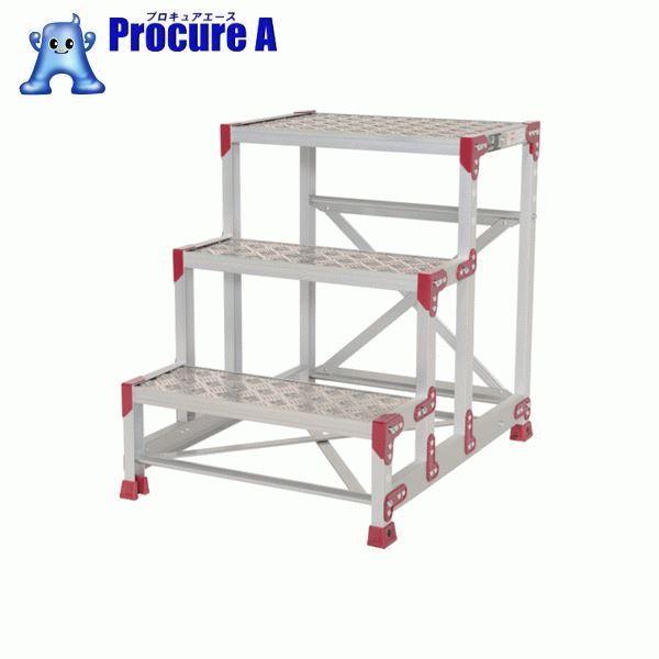 ピカ 作業台 ZG-P型縞板仕様 3段 幅60cm高さ75cm ZG-3675P ▼795-0667 (株)ピカコーポレイション Pica