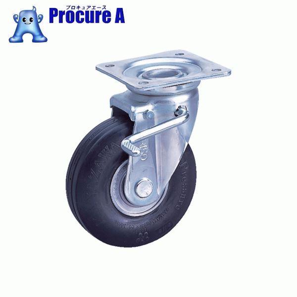 カナツー ゼロプレッシャータイヤ 自在金具S付 許容荷重95kgf 車輪径D200mm ZP-OS 8X2.00MS-BK ▼828-7556 (株)カナツー