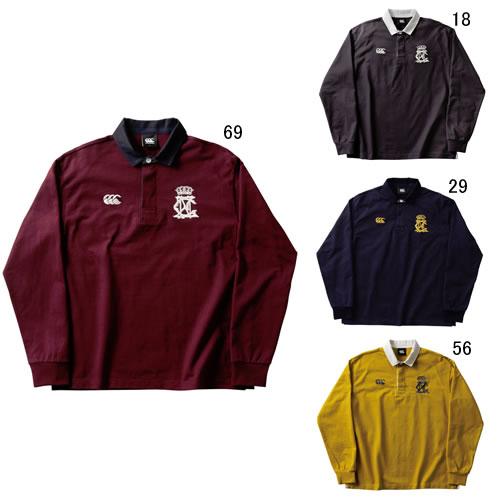 長袖 ビッグ 大きいサイズ ラガーシャツ メンズ カンタベリー canterbury ロングスリーブ ラガー シャツ 男性用 ラグビー スポーツ カジュアル RA49606B セール
