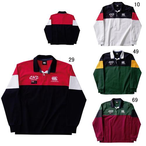 長袖 ラガーシャツ メンズ カンタベリー canterbury ロングスリーブ ラガー シャツ 男性用 ラグビー スポーツ カジュアル RA49609 セール