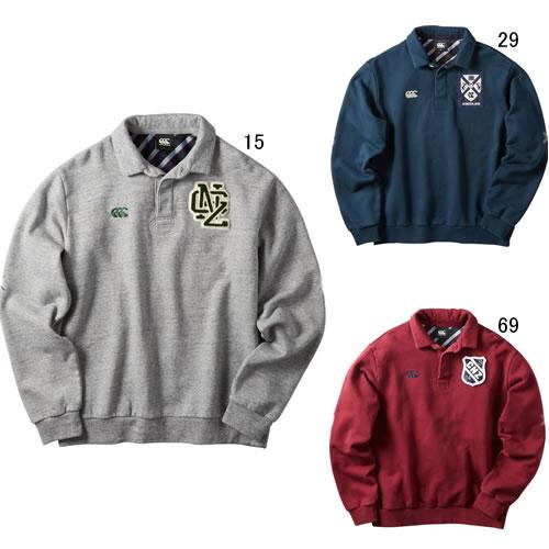 長袖 ラガーシャツ メンズ カンタベリー canterbury ラガースウェット ラグビー トレーニング スポーツ ウェア カジュアル セール RA40613