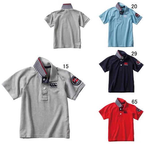 キッズ 半袖 ポロシャツ カンタベリー CANTERBURY ショートスリーブ ラガーポロ ラグビー ウェア スポーツ カジュアル 子供服 セール RAJ30128