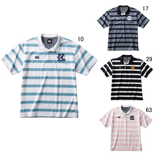半袖 ラガーシャツ カンタベリー canterbury メンズ ショートスリーブ ラガーシャツ ラグビー ウェア スポーツ カジュアル RA30115B セール