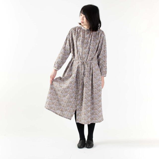 【SALE 20%OFF】ichi イチ 花柄ワンピース 191014ナチュラルファッション コットン 綿 40代 50代 ナチュラル服 大人コーデ 大人かわいい カジュアルコーデ