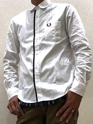 F4534フレッドペリーメンズLAYERED SHIRT レイヤードシャツ 大人コーディ メンズコーディ キレイメコーディ カジュアルコーディ 20代 30代 40代 50代 SALE セール正規販売店 長袖シャツ 送料無料