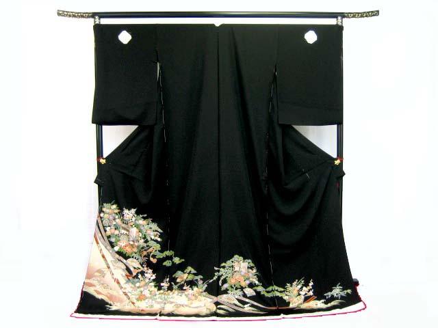 黒留袖/紋入り/表地