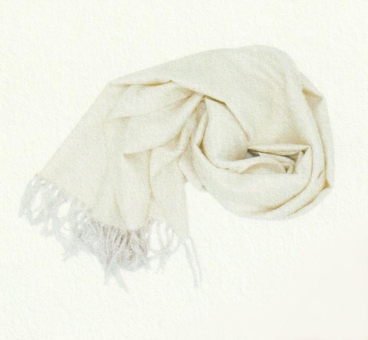 安心の定価販売 よりやわらかなふうあいへ 育てるショール 結城紬真綿ショール色無地 与え なずな