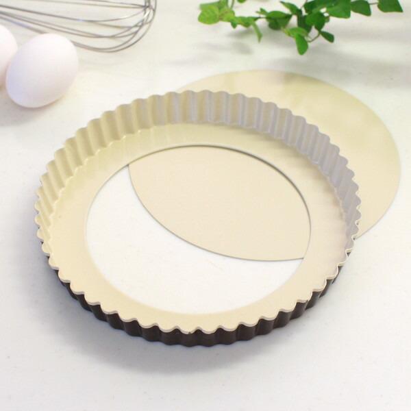 パール金属/ふっ素樹脂加工/タルト型/日本製 お手入れ簡単なふっ素樹脂加工!  タルト型 ラフィネ(raffine) ふっ素加工タルト型 20cm