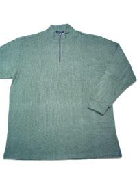 【5L】大きいサイズのTシャツ(送料無料・長袖・ファスナー開きハイネック)