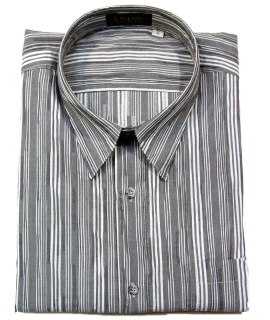 【4L】大きいサイズのカジュアルシャツ(送料無料・長袖・レギュラーカラー)