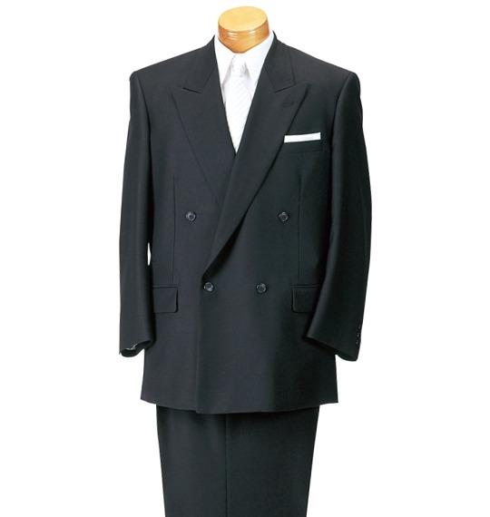 【3L・4L・5L・6L】大きいサイズのダブル礼服(MICHIKO LONDON・送料無料・ウエストアジャスター付・ダブルジャケット・ツータックパンツ)