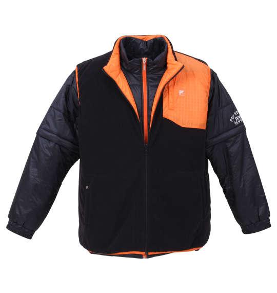 【 大きいサイズ 】5WAYジャケット FILA GOLF (ネイビー×オレンジ)【 3L 4L 5L 6L 】【 送料無料 】【 キング 】【 ビッグ 】【 ラージ 】