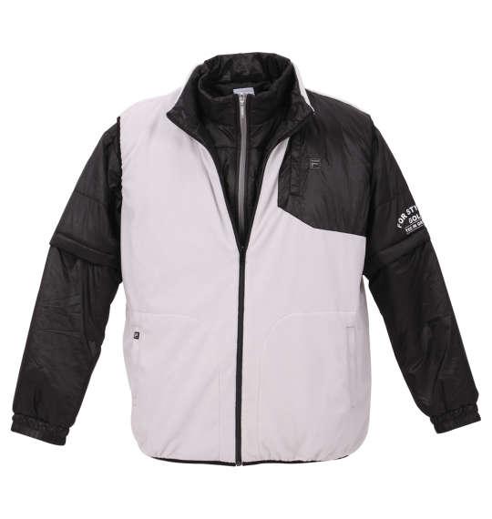 【 大きいサイズ 】5WAYジャケット FILA GOLF (ブラック×グレー)【 3L 4L 5L 6L 】【 送料無料 】【 キング 】【 ビッグ 】【 ラージ 】