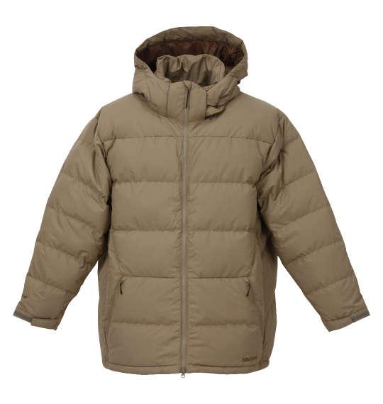 【 大きいサイズ 】ダウンジャケット Marmot (ベージュ)【 3L 4L 5L 6L 】【 送料無料 】【 キング 】【 ビッグ 】【 ラージ 】