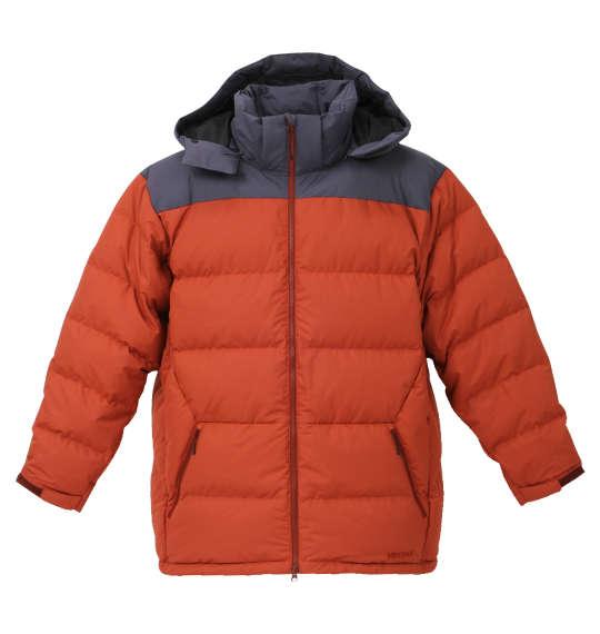 【 大きいサイズ 】ダウンジャケット Marmot (ブリック×グレー)【 3L 4L 5L 6L 】【 送料無料 】【 キング 】【 ビッグ 】【 ラージ 】