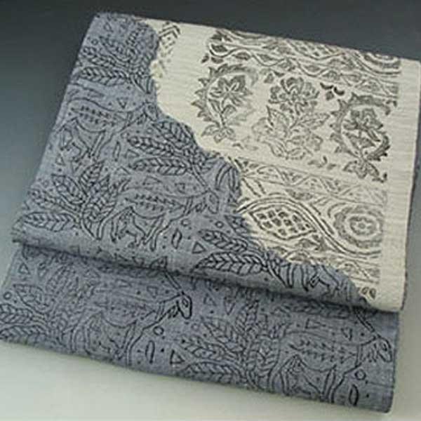西陣 じゅらく 謹製 袋帯 紬 洒落 袋帯 しゃれ 袋帯 送料無料 ふくろおび
