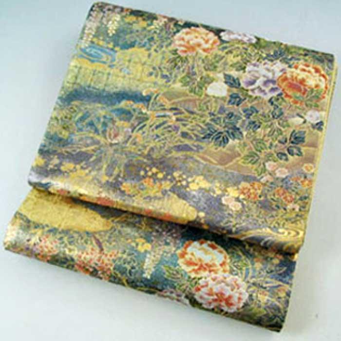 正絹 袋帯 四季彩花鳥 ふくろおび 帯 礼装 フォーマル用 絹 送料無料
