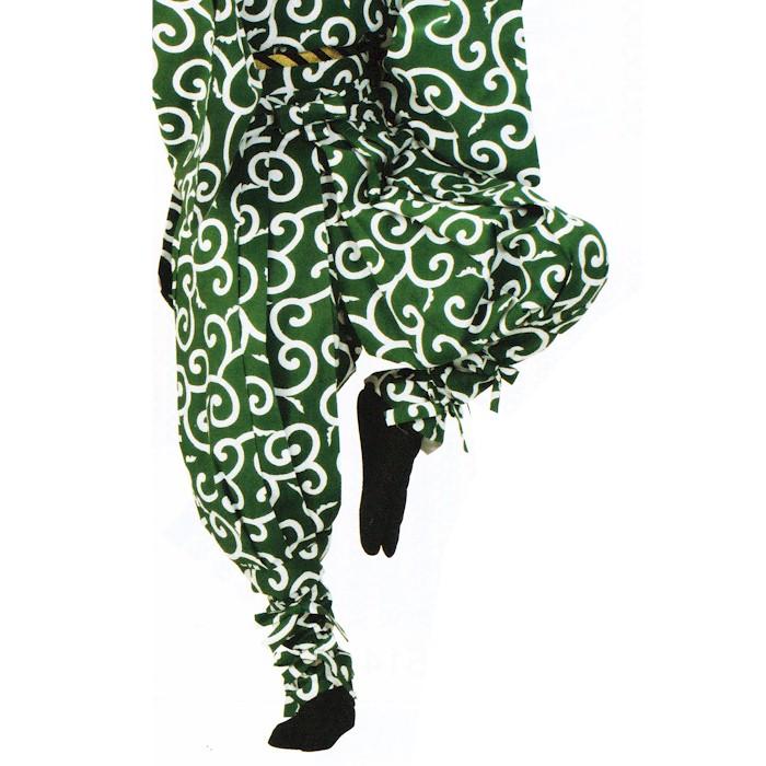 たっつけ袴 たっつけパンツ 唐草 (k畑72509) はかま ちゃんちゃんこ 帽子 玉すだれ 舞台 ステージ 衣装 着物 きもの 日舞 日本舞踊 新舞踊 踊り 大道芸 時代劇 舞台 演劇 【お取り寄せ商品】