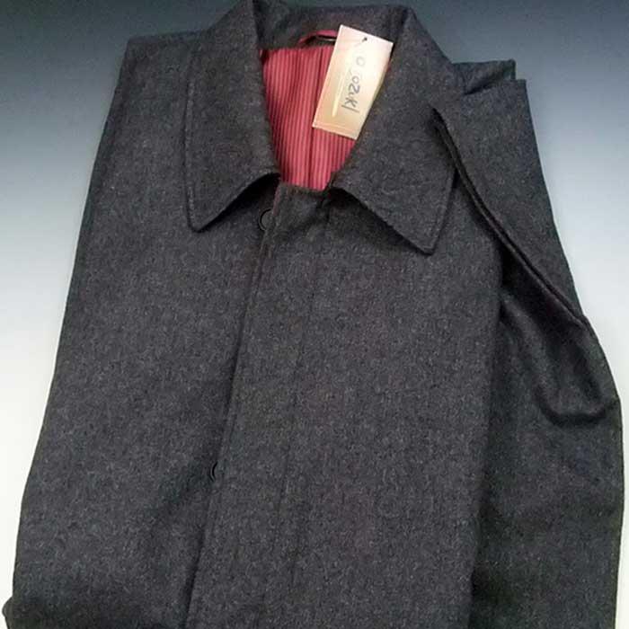 日本製 紳士 角袖コート ウール混 グレー M L メンズ 着物 防寒 男物コート メンズコート 男性用 和装コート 角袖 送料無料 【お取り寄せ商品】