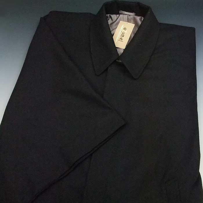 日本製 紳士 角袖コート ウール混 黒 M L メンズ 着物 防寒 男物コート メンズコート 男性用 和装コート 角袖 【お取り寄せ商品】