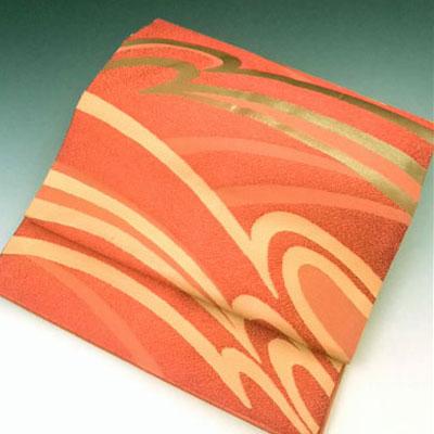 正絹 名古屋帯 曲線 仕立上り なごや帯 仕立上り なごや 名古屋 帯 きもの 着物