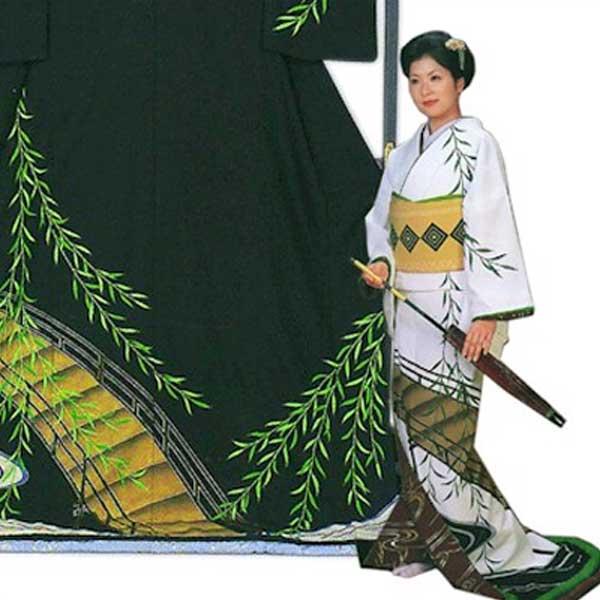 裾引き (f27-351-352) すそひき 裾引 舞台 衣装 着物 きもの 日舞 日本舞踊  【お取り寄せ商品】