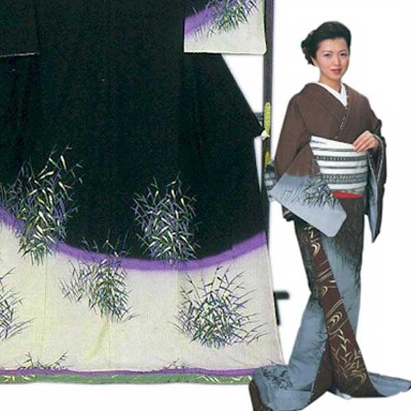 裾引き (f27-347-348) すそひき 裾引 舞台 衣装 着物 きもの 日舞 日本舞踊 送料無料 【お取り寄せ商品】