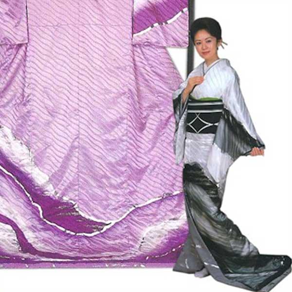 裾引き (f27-371-372) すそひき 裾引 舞台 衣装 着物 きもの 日舞 日本舞踊 送料無料 【お取り寄せ商品】