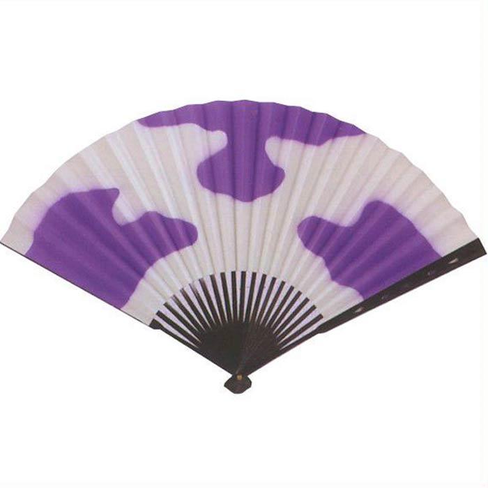 中啓 扇子 雲 紫 (te499) 踊り 日舞 日本舞踊 おどり せんす 踊り扇子 【お取り寄せ商品】