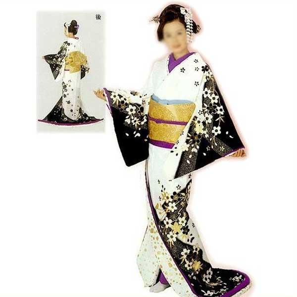 裾引き 比翼仕立て (鈴70004) すそひき 裾引 舞台 衣装 着物 きもの 日舞 日本舞踊 送料無料 【お取り寄せ商品】