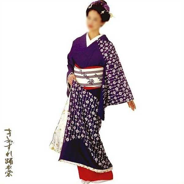 裾引き 裾一重 (杉22104) すそひき 裾引 舞台 衣装 着物 きもの 日舞 日本舞踊 送料無料 【お取り寄せ商品】