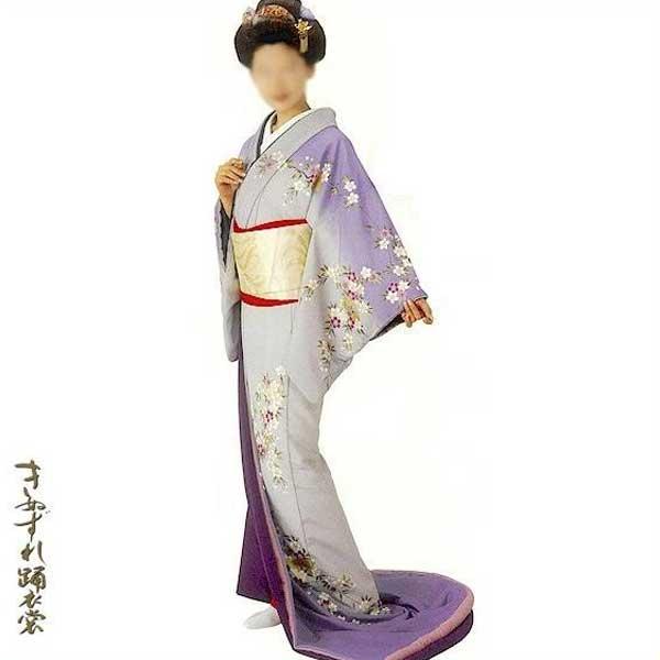 裾引き 比翼仕立て (姿70010) すそひき 裾引 舞台 衣装 着物 きもの 日舞 日本舞踊 送料無料 【お取り寄せ商品】