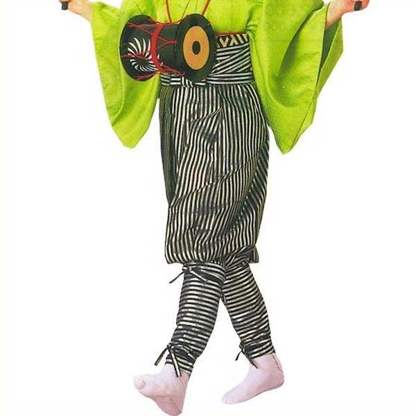 箔押 たっつけ袴 銀 黒 (s策8707) 送料無料 はかま ちゃんちゃんこ 帽子 玉すだれ 舞台 ステージ 衣装 着物 きもの 日舞 日本舞踊 新舞踊 踊り 大道芸 時代劇 舞台 演劇 【お取り寄せ商品】