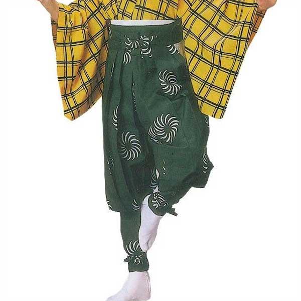 たっつけ袴 獅子毛 (s元8701) 送料無料 はかま ちゃんちゃんこ 帽子 玉すだれ 舞台 ステージ 衣装 着物 きもの 日舞 日本舞踊 新舞踊 踊り 大道芸 時代劇 舞台 演劇 【お取り寄せ商品】