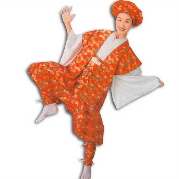 たっつけ袴 セット (s8716) たっつけ 袴 はかま ちゃんちゃんこ 帽子 玉すだれ 衣装 着物 日舞 日本舞踊 送料無料 【お取り寄せ商品】