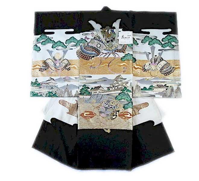 お宮参り 男児初着 のしめ 3 宮詣り 男子 男の子 キモノ きもの 着物 祝着 送料無料