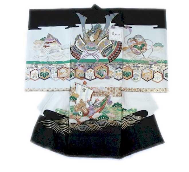 お宮参り 男児初着 のしめ 4 宮詣り 男子 男の子 キモノ きもの 着物 祝着 送料無料