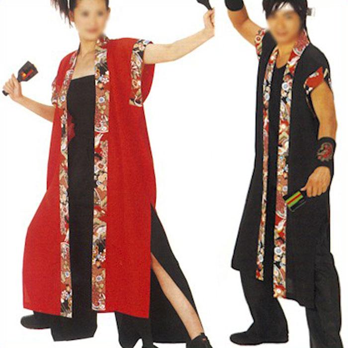 袖なし長半纏 ( ak73069-73 ) よさこい 衣装 祭り まつり はんてん 袢天 袢纏 法被 はっぴ 衣裳 【お取り寄せ商品】